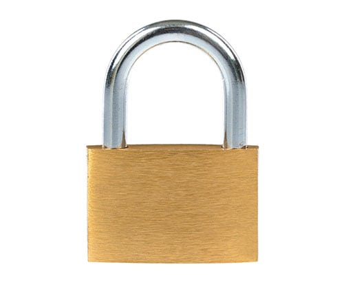 A picture of a large lock