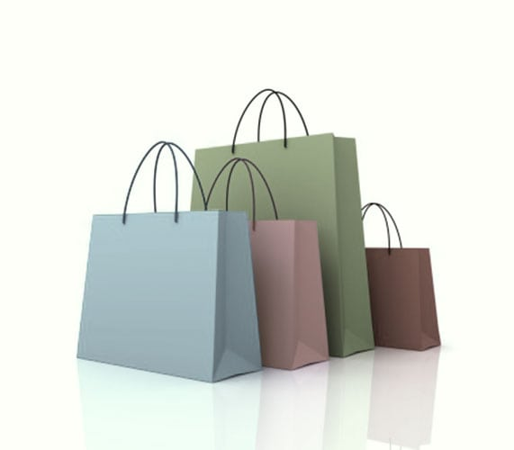 A picture of some shopping bags