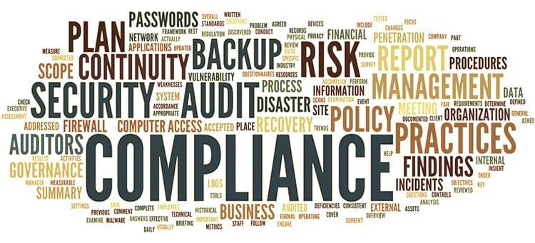 Regulatory compliance word cloud