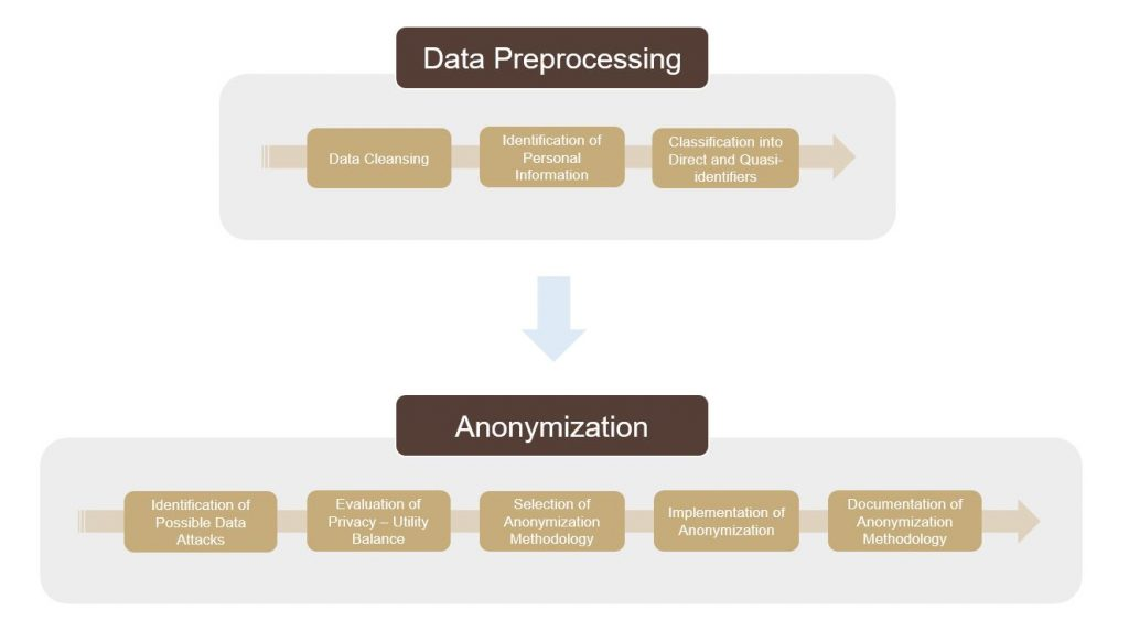 Two Steps: Data Processing and Anonymization