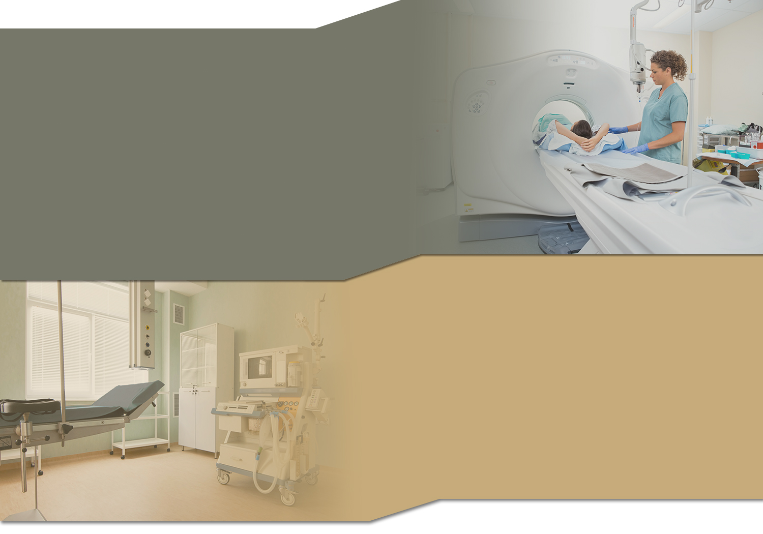 Healthcare Software Solutions Double Section Background